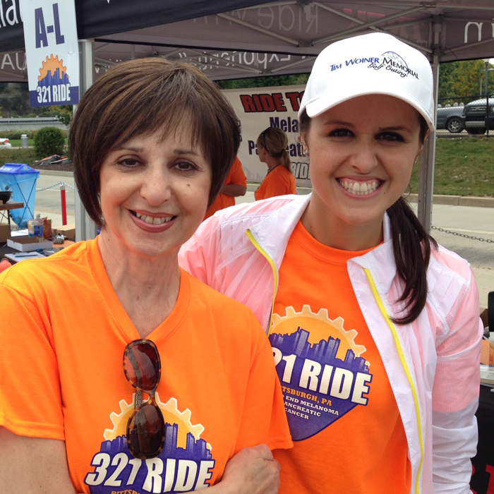 Jessica and her Mom, Rita, at the 1st annual 3-2-1 Ride in 2013.
