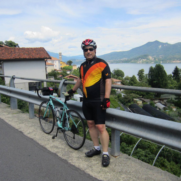Our Ride Director Andy Abere in his Ride Jersey in Italy!