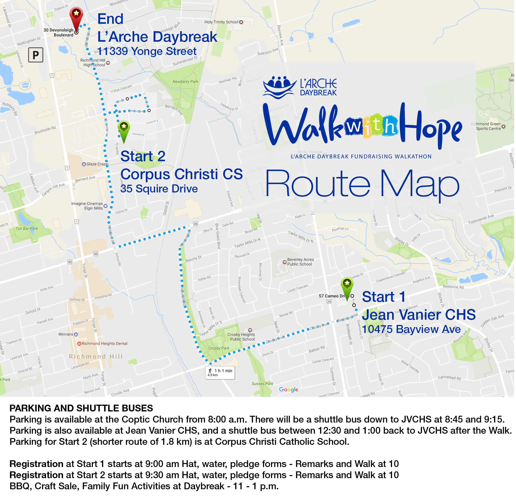 Walk with hope route 2017