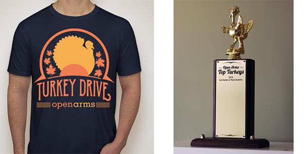 Turkey t-shirts and trophies, oh my!